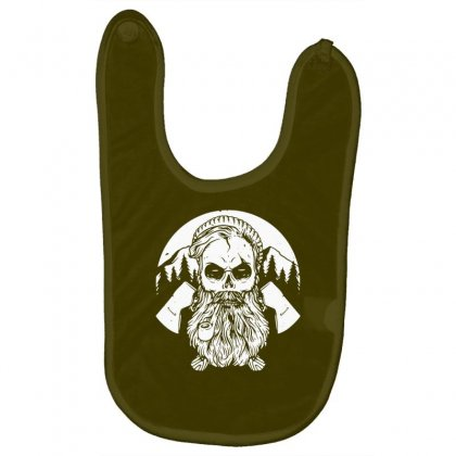 Beard Skull Hard Worker Baby Bibs Designed By Tonyhaddearts