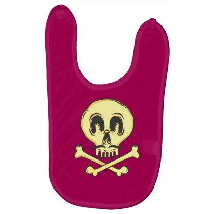 Funny Skull Mustache Baby Bibs Designed By Tonyhaddearts