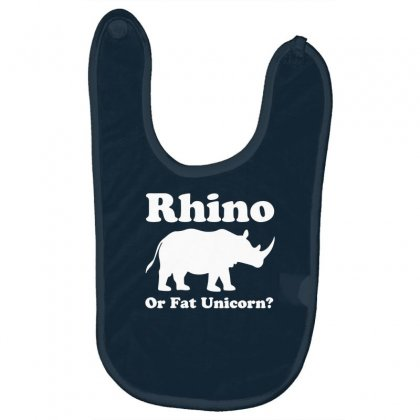 Rhino Or Fat Unicorn Baby Bibs Designed By Gematees