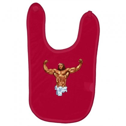 Strong Jesus Baby Bibs Designed By Gematees