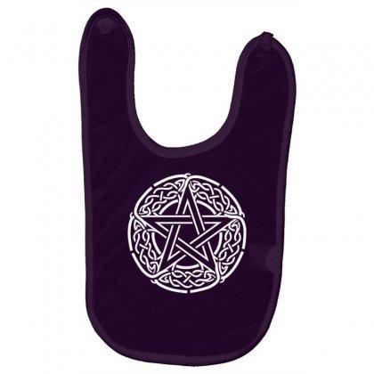 The Pentagram Star In Celtic Circle Baby Bibs Designed By Gematees