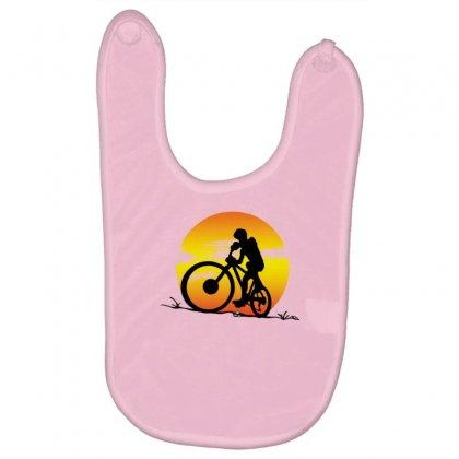 Mountainbike Sunset Baby Bibs Designed By Gematees