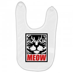 funny cat meow Baby Bibs   Artistshot