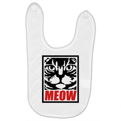 Funny Cat Meow Baby Bibs Designed By Gematees