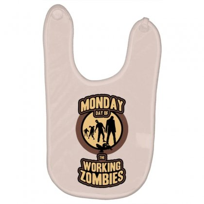 Day Of The Working Zombies Baby Bibs Designed By Gematees