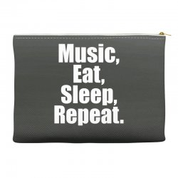 Music Eat Sleep Repeat Accessory Pouches | Artistshot