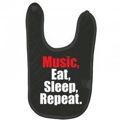 Music Eat Sleep Repeat Baby Bibs | Artistshot