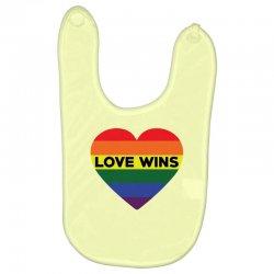 Love Wins Baby Bibs   Artistshot