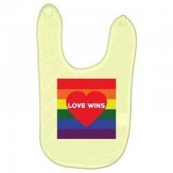 Love Wins Baby Bibs | Artistshot