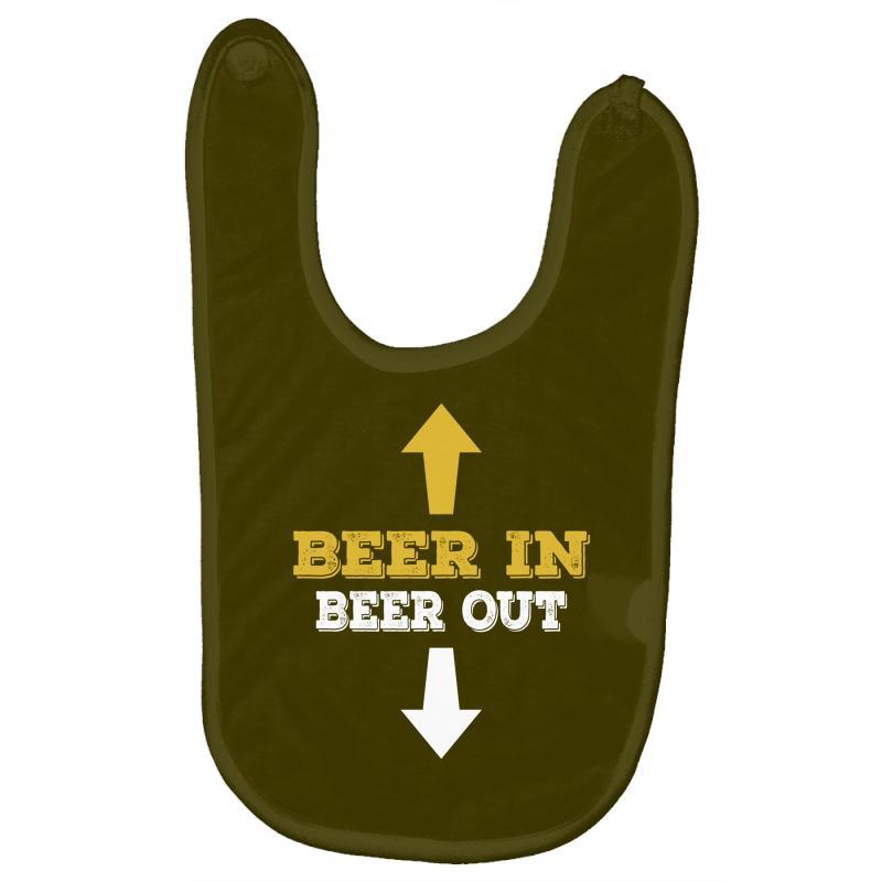 Beer In Beer Out Baby Bibs   Artistshot