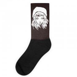 beanie hat eyes closed Socks | Artistshot