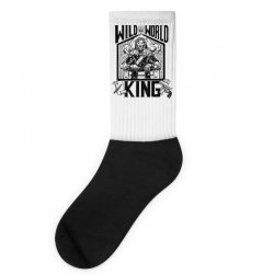 Wild World King Socks | Artistshot