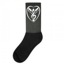music heart Socks | Artistshot