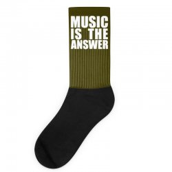 music is the answer printed Socks | Artistshot