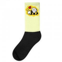 love bee lover valentine Socks | Artistshot