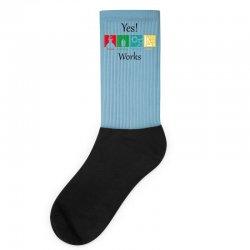 yes work science Socks   Artistshot