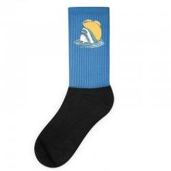 funny hat shark Socks   Artistshot
