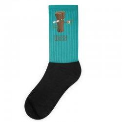 funny morning wood Socks | Artistshot