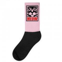 funny cat meow Socks   Artistshot