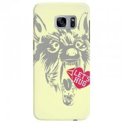 screaming wolf love you Samsung Galaxy S7 Edge Case | Artistshot
