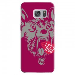 screaming wolf love you Samsung Galaxy S7 Case | Artistshot
