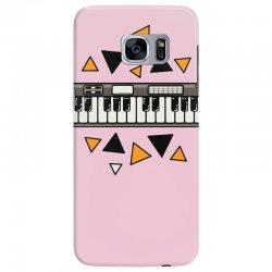 music,keyboard,electronic,piano,triangle,reflections,cute,vectorart, Samsung Galaxy S7 Edge Case | Artistshot