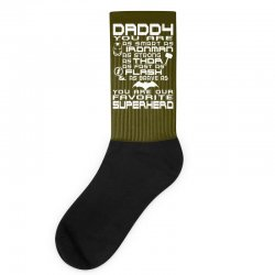 DADDY YOU ARE OUR SUPERHERO. Socks | Artistshot