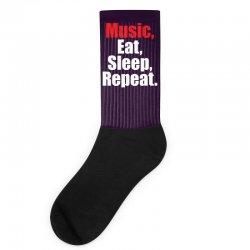 Music Eat Sleep Repeat Socks | Artistshot