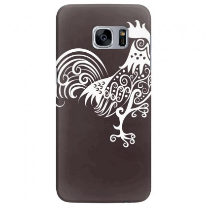 Rooster Pattern Ornament Samsung Galaxy S7 Edge Case Designed By Specstore