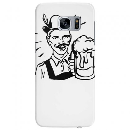 Retro Guy With Beer Samsung Galaxy S7 Edge Case Designed By Specstore