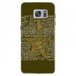 Hamilton Typography Samsung Galaxy S7 Case | Artistshot