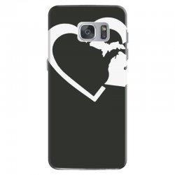 michigan heart love Samsung Galaxy S7 Case | Artistshot