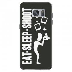 eat sleep shoot Samsung Galaxy S7 Case | Artistshot