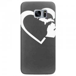 michigan heart love Samsung Galaxy S7 Edge Case | Artistshot