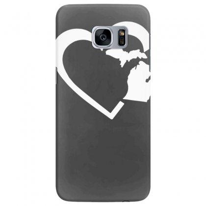Michigan Heart Love Samsung Galaxy S7 Edge Case Designed By Tonyhaddearts