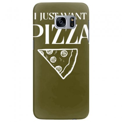 I Just Want Pizza Samsung Galaxy S7 Edge Case Designed By Tonyhaddearts