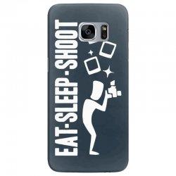 eat sleep shoot Samsung Galaxy S7 Edge Case | Artistshot