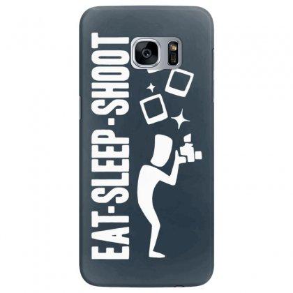 Eat Sleep Shoot Samsung Galaxy S7 Edge Case Designed By Tonyhaddearts