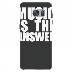 music is the answer printed Samsung Galaxy S7 Case | Artistshot