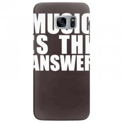 music is the answer printed Samsung Galaxy S7 Edge Case | Artistshot