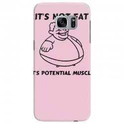 it's not fat, it's potential muscle Samsung Galaxy S7 Edge Case | Artistshot