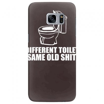 Different Toilet, Same Old Shit Samsung Galaxy S7 Edge Case Designed By Tonyhaddearts