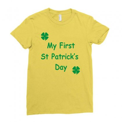 My First St Patricks Day Ladies Fitted T-shirt Designed By Mdk Art