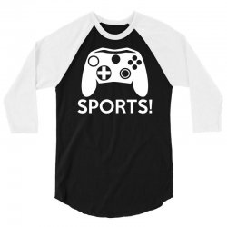 sports video games 3/4 Sleeve Shirt | Artistshot