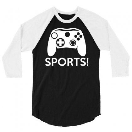 Sports Video Games 3/4 Sleeve Shirt Designed By Mdk Art