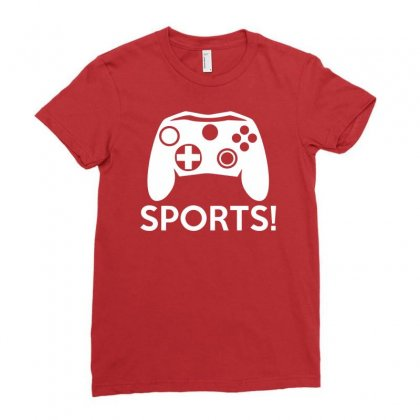 Sports Video Games Ladies Fitted T-shirt Designed By Mdk Art