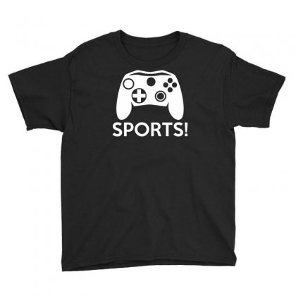 Sports Video Games Youth Tee Designed By Mdk Art