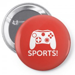 sports video games Pin-back button | Artistshot