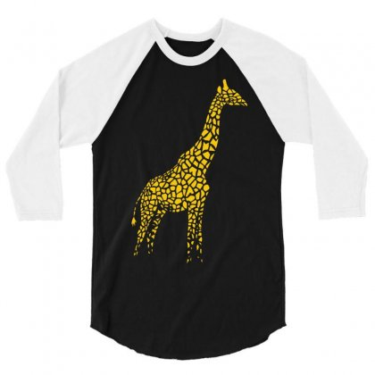 Giraffe 3/4 Sleeve Shirt Designed By Mdk Art