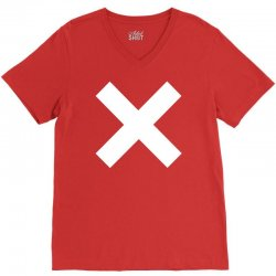 cross logo V-Neck Tee | Artistshot